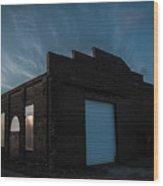 Sunset Depot Wood Print