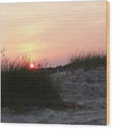 Sunset Dewey Beach Wood Print