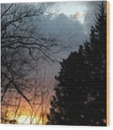 Sunset Display Wood Print