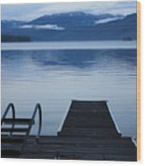 Sunset Dock At Priest Lake Wood Print