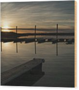 Sunset Docks Wood Print