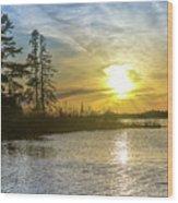 Sunset Dollarville Flooding Newberry Michigan -0243 Wood Print