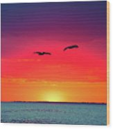 Sunset Dreams Wood Print