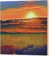 Sunset Eat Fire Spring Rd Nantucket Ma 02554 Large Format Artwork Wood Print