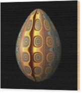 Sunset Egg With Concentric Circles Wood Print