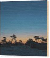 Sunset - Elephant Sands Botswana Wood Print