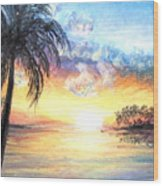 Sunset Exotics Wood Print