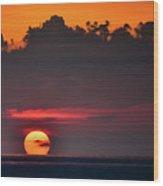 Sunset Face Wood Print