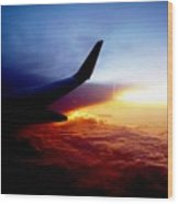 Sunset Flying Wood Print