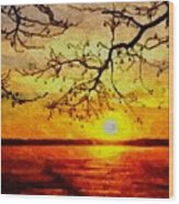 Sunset For Abigail Browne H B Wood Print