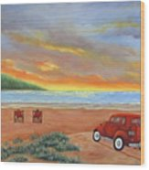 Sunset For Two  Wood Print