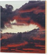 Sunset Formation Wood Print