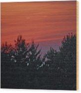Sunset From Bear Path Wood Print