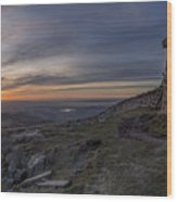 Sunset From Commedagh Wood Print