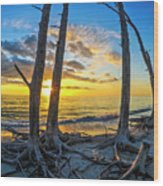 Sunset From Lovers Key, Florida Wood Print