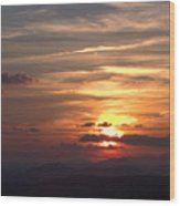 Sunset From The Blue Ridge Parkway Ll Wood Print