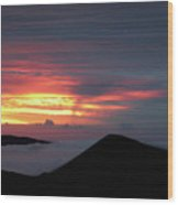 Sunset From The Observatory Wood Print