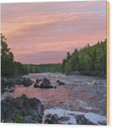 Sunset From the Swinging Bridge Wood Print