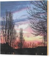 Sunset From Tifton Green Wood Print