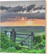 Sunset Gate Wood Print