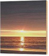 Sunset Wood Print by Gina De Gorna