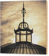 Sunset Glasshouse In Winter Wood Print