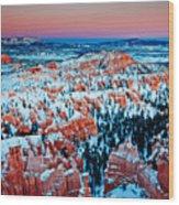 Sunset Glow Of A Hoodoo Nation Wood Print