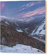 Sunset Glow Over Cannon Mountain Wood Print