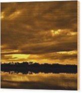 Sunset Gold Wood Print