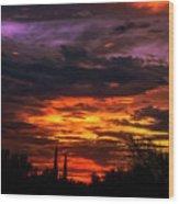 Sunset H16 Wood Print