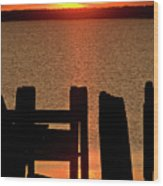Sunset Hecla Island Manitoba Canada Wood Print