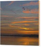 Sunset Hoo England Wood Print