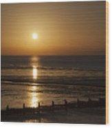 Sunset Hunstanton Wood Print