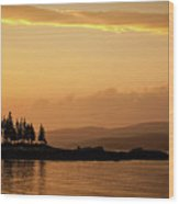 Sunset In Acadia  Wood Print
