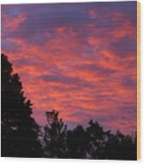 Sunset In Antioch Wood Print