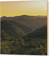 Sunset In Appalachia Wood Print