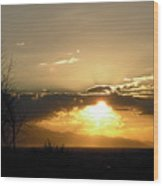 Sunset In Apple Valley, Ca Wood Print
