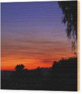 Sunset In Arizona Wood Print