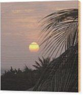 Sunset In Aruba Wood Print