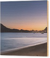 Sunset In Cabo Wood Print