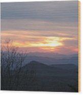 Sunset In Carolina  Wood Print