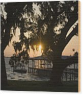 Sunset In Central Florida Wood Print