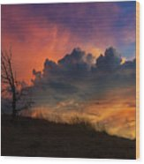 Sunset In Central Oregon Wood Print