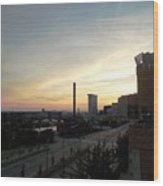 Sunset In Cleveland Wood Print