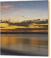Sunset In Dar Wood Print