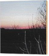 Sunset In Door County Wood Print
