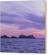 Sunset In Dubrovnik Wood Print
