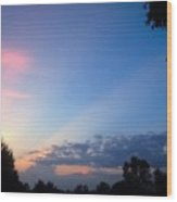 Sunset In Early Evening Wood Print