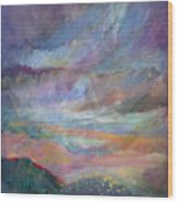 Sunset In Efrat Wood Print by Bryna La