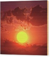 Sunset In Egypt 9 Wood Print